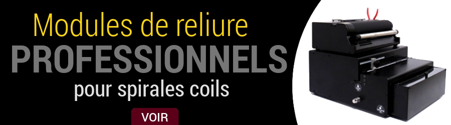 Modules professionnels pour la reliure en spirales coils