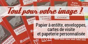 Création et impression de papiers à lettres, enveloppes, cartes de visite et papeterie personnalisées